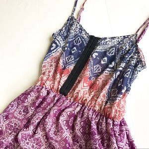 Urban Outfitters Aztec Bohemian Mini Boho Dress XS